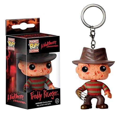 Luck7DZ Ein Albtraum on Elm Street X POP Schlüsselanhänger!Freddys Alpträume PVC Exquisite Sammlerfigur, Multicolor