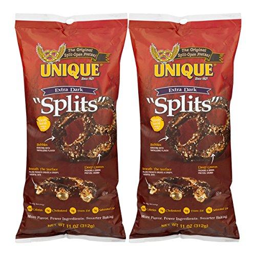 Unique Extra Dark Pretzel Splits, 11 Oz. Bag (Two - 11 Oz. Bags)