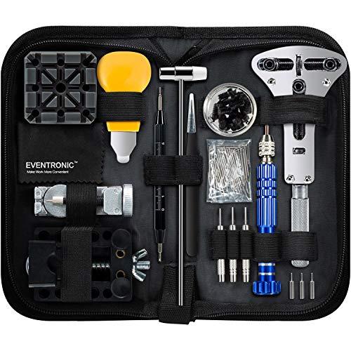 Kit de réparation de montre, Eventronic ensemble d'outils de barre de ressort professionnel, ensemble d'outils de...