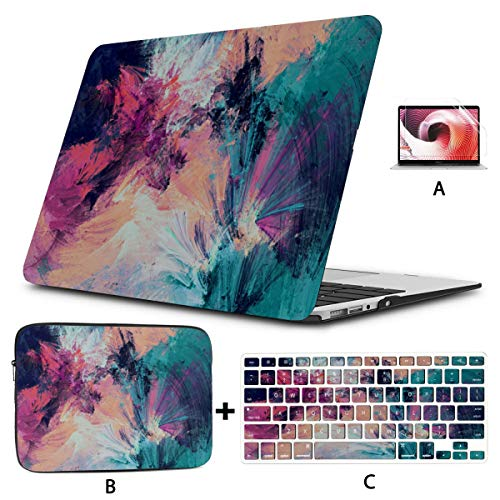 Mac Computer Case Color Spray Art Fashion Water Drop Macbook Pro Computer Case Hard Shell Mac Air 11'/13' Pro 13'/15'/16' With Notebook Sleeve Bag For Macbook 2008-2020 Version