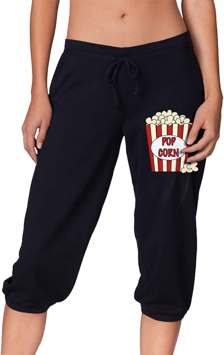 Be super Popular welcome Popcorn Clipart Women's Pants Capri Cropped Workout Beam Trouse