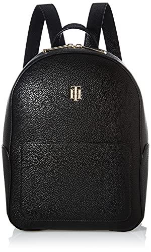 Tommy Hilfiger Damen TH Essence Backpack Rucksack, Schwarz, Medium