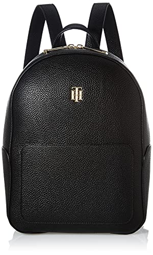 Tommy Hilfiger TH Essence Backpack, Zaino Donna, Nero, Medium