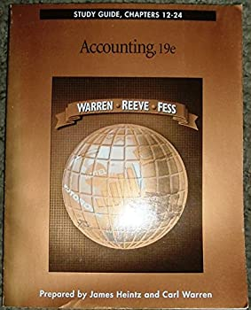 Study Guide, Chapters 12-24: Accounting 0538874228 Book Cover