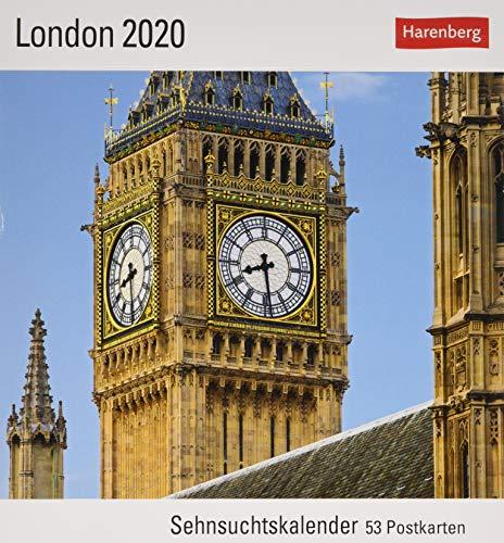 London Postkartenkalender 2020. Wochenkalendarium. Blockkalender. Format 16 x 17,5 cm