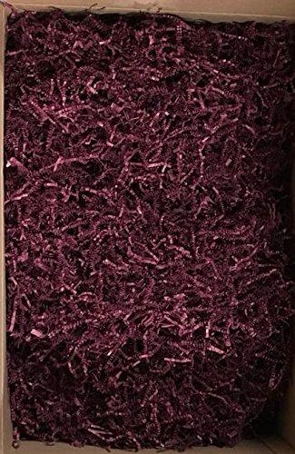 Black Cat Avenue 1 LB Burgundy Crinkle Cut Paper Shred Filler for Gift Wrap and Basket Filler