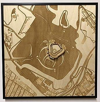 Los Angeles California City Map by Stadium Map Art   Dodgers Stadium Poster   Los Angeles Stadium 3D   Sports Decor with 3D Stadium Art