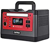 OKPRO Solar Generator Portable Power Station, 540Wh Outdoor Mobile Lithium Battery Pack with 110V/500W AC Outlet, 2 DC Port, Car Port Type C, Solar-Ready Generator RV Battery CPAP Power Outage Kit