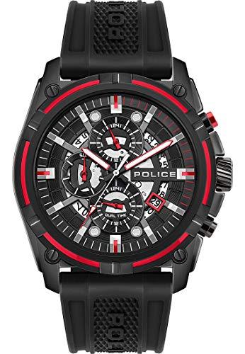 Police Reloj analógico de cuarzo para hombre, talla única, color negro y negro, 32015075