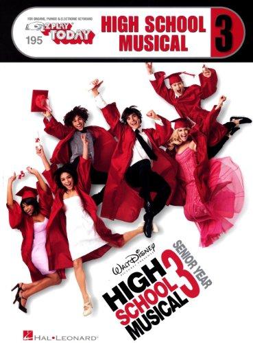 E-Z Play Today: High School Musical 3. Partituras para Teclado, Piano, Voz y Guitarra