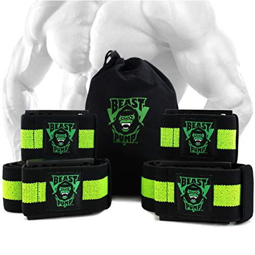 Occlusion Bands, Restriction of Blood Flow Muscle Straps Training for Arms and Legs, 4 Pack