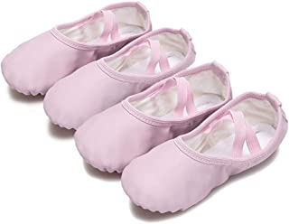YYTing Ballet Slippers Girls Boys Shoes Yoga Practice Dance Flats (Toddler/Little Kid/Big Kid)