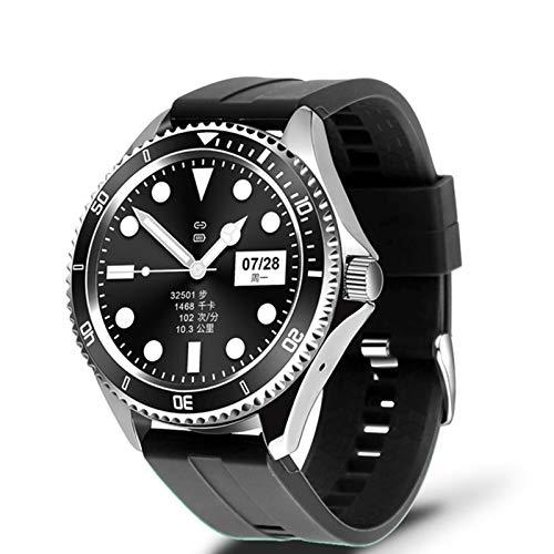 Hombre y Mujer Z69 Reproductor de música de Lujo Reloj Inteligente HD Pantalla Redonda Completa Bluetooth Llamada Business Smart Watch Deportes Fitness,B