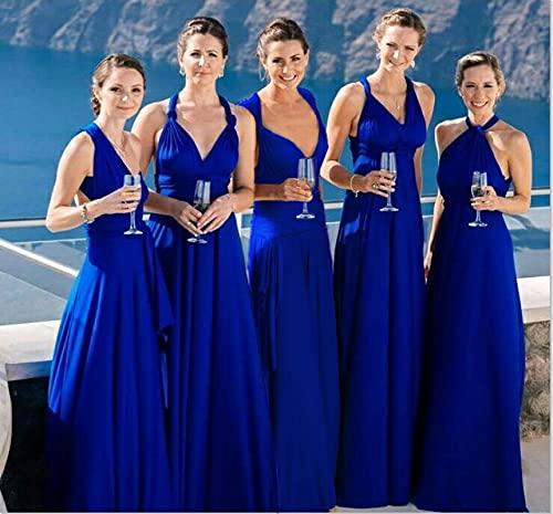 ShZyywrl Vestir Boho Maxi Club Dress Vestido Largo Rojo Party S Azul Real
