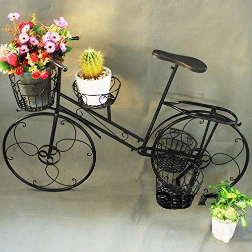 Wghz Estante de Flores Estante Hierro Arte Bicicleta Piso de pie Decoración de Ventana Europea Decoración de decoración Soporte de exhibición de Flores Soportes de Plantas