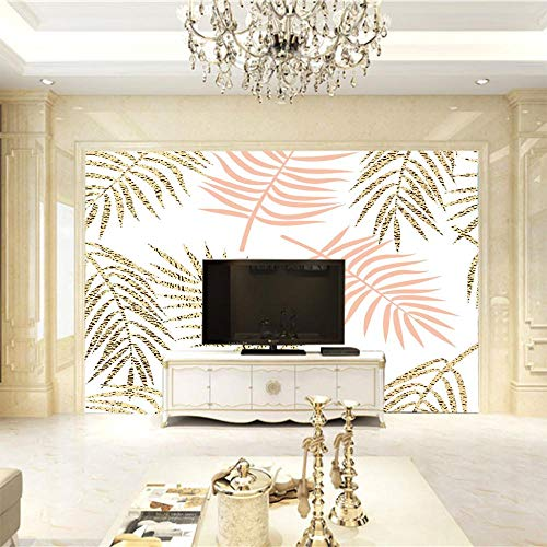 MHJAIE Fondo De Pantalla Decorativo Moda Creatividad Hojas 200X100Cm Decorativo Extraíble Vinilo Pared Calcomanías Para Sala De Estar Dormitorio Mural