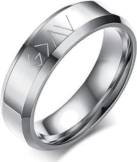 Great God Engraved Christian Stainless Steel Engagement Promise Wedding Ring,Gold/Black/Sliver