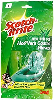 Scotch-Brite Aloe Vera Coated Gloves S, Green