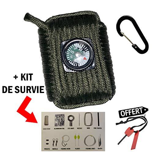 KIT DE Survie 17 en 1 Boite A Outils | KIT d'urgence | Boite DE Sauvetage Auto-Assistance | Trousse DE Secours | IDÉAL Survie RANDONNÉE Aventure Camping Milieu Sauvage Plein AIR