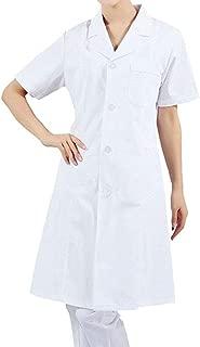 Women's Men's 41 Inch White Lab Coats Laboratory Doctor Workwear - Unisex Lab Coat Scrubs Adult Uniform with 3 Button Closure