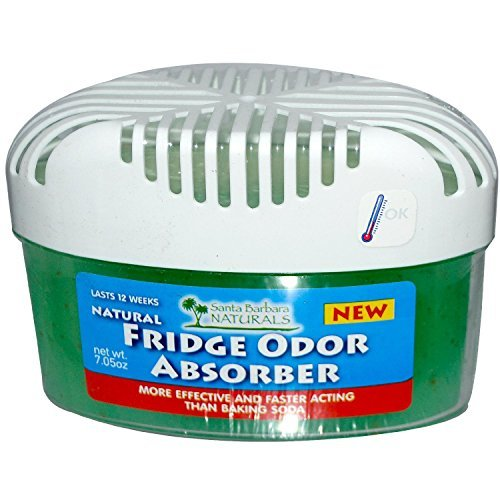 Fridge Odor Absorber: The Premium, Naturally Air Purifying, Absorbent Odor Eliminator and Deodorizer for your Refrigerator. 3X More Powerful and Effective Freshener than Baking Soda (case of 4 units)