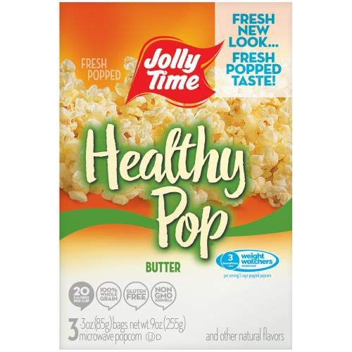 Check Out This Jolly Time, Healthy Pop, Microwave Pop Corn Bags, Butter (Pack of 4)