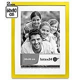 Portafoto in Legno a cornice con vetro giallo 9misure Poster, Legno, giallo, 60 x 80 cm