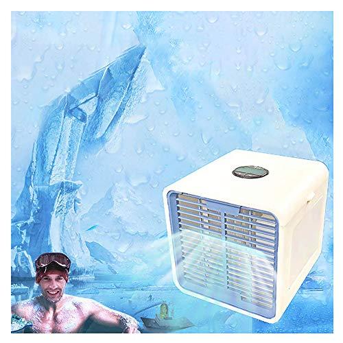 Mobile Ventilator Klimaanlage Persönlicher Mini Klimageräte USB Tragbar Luftkühler Ventilator Luftbefeuchter und Luftreiniger LED Beleuchtung Luftkühler 3 Arten Windgeschwindigkeit Modus (B)
