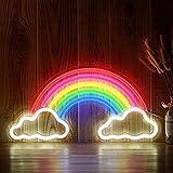 Led Night Lightcreative Lámpara De Neón Decorativa Led Xmas Tree Neon Sign Light Decoración De La Pared Art Neon Lights Decoración De Navidad Fors Home Party Gift-Rainbow