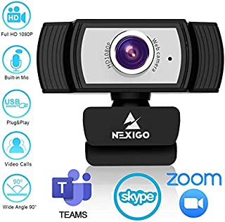 1080P Webcam for Streaming, 2020 NexiGo Web Camera with Microphone, for Zoom Meeting YouTube Skype FaceTime Hangouts OBS X...