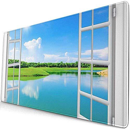 Gaming Extended Mouse Pads Blaue Reiseansicht vom Fenster im Körper 30X80 cm