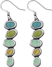 product image for DANFORTH - Tango/Capri Earrings - 1 5/16 Inch - Pewter - Surgical Steel Wires - Handcrafted - USA