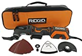 Ridgid R28602 JobMax 4 Amp Corded Multi Tool with Replaceable Heads (Sander Head, Sanding Pads, Crescent Saw and 1 1/8 Wood Cutting Blade Included)