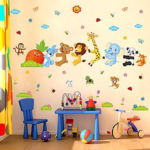 Muurstickers, creatieve bos, cartoon, haas, dieren, truien, radis, doe-het-zelf, muurstickers, vinyl, kinderkamer, muurstickers, woonkamer, slaapkamer, decoratie
