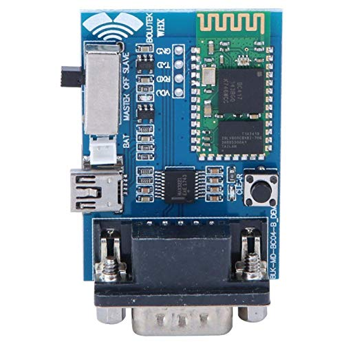 Adaptador de serie Bluetooth RS232 Módulo maestro-esclavo Módulo de comunicación Bluetooth Mini USB para sistemas/Componentes electrónicos DOS