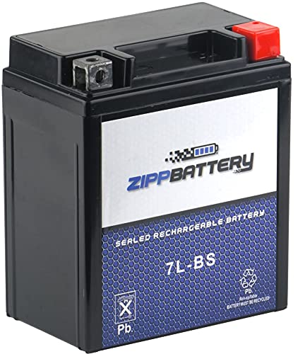 Rechargeable YTX7L-BS Replacement Motorcycle Battery - Maintenance Free - Sealed Absorbed Glass Mat - Zipp Battery