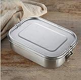 Auslaufsichere Brotdose aus Edelstahl, Bento-Box, edelstahl brotdose kinder Metall-Lunchbehälter mit 3 Fächern, 1400 ml, für Kinder oder Erwachsene