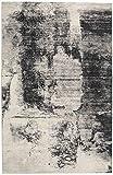 RugVista, Cloudy Alfombra, Moderno, Pila Corta, 200 x 300 cm, Rectangular, Oeko-Tex Standard 100, Polypropylene, Pasillo, Dormitorio, Cocina, Sala de Estar, Negro