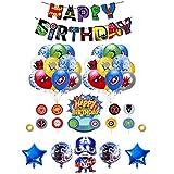 Decoracion Cumpleaños Superheroes Globos de Superheroes Globos de Papel de Superhéroe Feliz Cumpleaños del Pancarta Superhéroes Cake Toppers Adornos de Pastel Superheroes