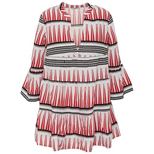 ONLY Damen ONLLUCCA Athena 3/4 Dress WVN Kleid, White, 34