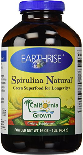 Earthrise Spirulina, Natural Powder 16 Oz by Earthrise