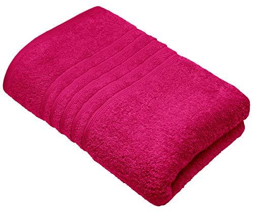 Lashuma toalla de sauna mujer color: rojo ruibarbo, London toalla de playa extra largo, toalla grande algodon 85x220 cm