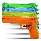 HC-Handel Wasserpistole transparent, 24cm, 6er pack, farblich sortiert