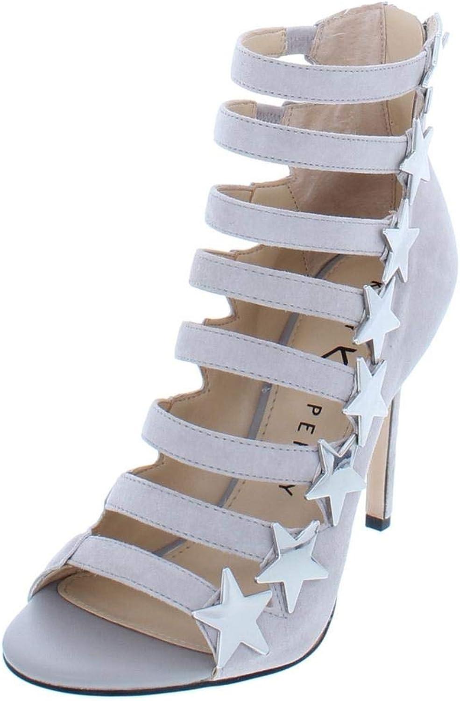 Katy Perry Perry Perry kvinnor The Stella Strappy läder Open -Toe klackar  äkta