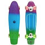 osprey - skateboard completo retrò in plastica, unisex, sk0035, dip dye, 68,5 cm