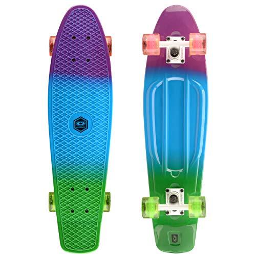 Osprey - Skateboard Completo retr in plastica, Unisex, SK0035, Dip Dye,...