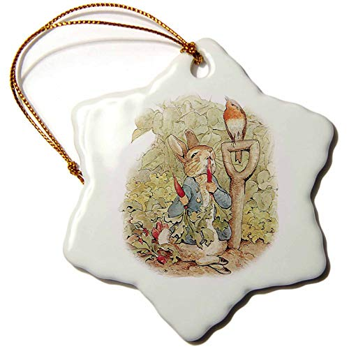 Kysd43Mill ORN_110164_1 Peter Rabbit in The Garden-Vintage Art- Christmas Ornaments Ceramic for Christmas Tree Decoration