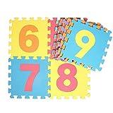 10 Unids Puzzles de suelo Puzzle Jugar Mat Baby Puzzle Mat Espuma Mat Alfombra Infantil Pielmatte Baby Puzzle Study Alfombra Split Joint EVA bebé Juego Mat Indoor Actividad suave 30cm * 30cm