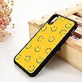 para iPhone 6 6S TPU Funda de Gel de sílicepara iPhone 7 Plus X XS 11 12 Mini Pro MAX XR Wajah Smiley Kuning, para iPhone 12 Pro, Lavanda
