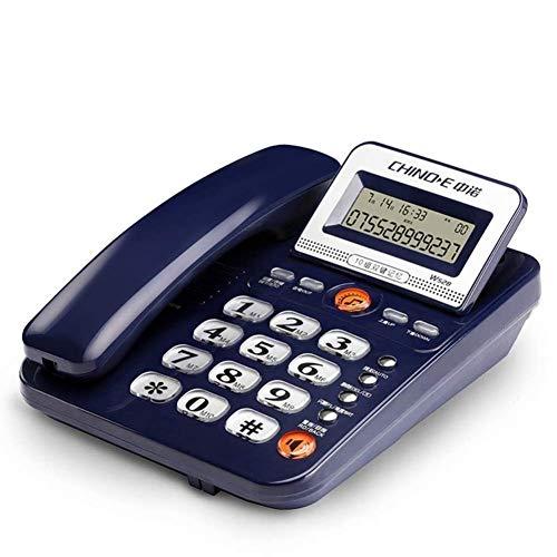 qwertyuio Nostálgico Vintage Teléfono con Cable Teléfono/Oficina De Negocios Asiento Teléfono Hogar Teléfono con Cable Sin Batería Identificación del Llamante Teléfono Independiente para E